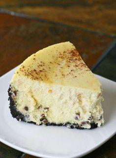 Grand Marnier Chocolate Chip Cheesecake - FoodBabbles.com