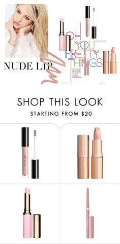 """""""Try nude"""" by golyvegg ❤ liked on Polyvore featuring beauty, Silvana, Charlotte Tilbury, Clarins, Stila and Chantecaille"""