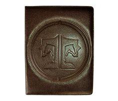 Dark Chocolate Signature Style Embossing Tucker Tweed iPad Cover