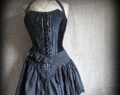 Stripe bustle dress by NaturallyBohemian on Etsy