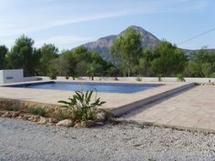 My pool overlooking the Montgó in Jávea, Spain....