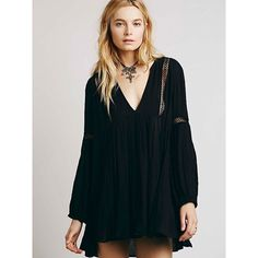 Free People Babydoll Lace Inset Swing Tunic