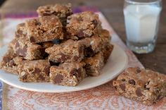 Oatmeal Bar Cookies with Coconut and Chocolate Chips