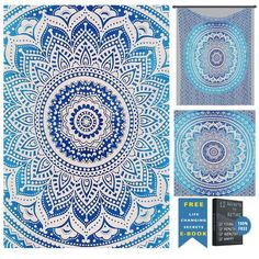 Usage: ->Bed Cover, Tapestry, Curtain, Couch cover, Wall Hanging. ->Table Cloth, Furniture cover, Fabric for creativity, Throw covers for SOFAS. ->Festival/wedding decoration, Restaurant/shop decoration, College/dorm Decoration, Festival flags. ->Perfect gift for all occasions ->Picnic/Beach Sheet/ Blanket etc.