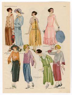 Spring dresses in 1921, via The Metropolitan Museum of Art, New York.