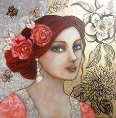 women art by Loetitia Pillault Illustrations, Illustration Art, Claudia Tremblay, L'art Du Portrait, Portraits, Inspiration Art, Human Art, Beautiful Artwork, Face Art