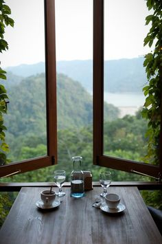 Imagine waking up and having breakfast with this view. No noise pollution. Just the sound of nature and, if you're lucky enough, the soft voice of your princess/prince whispering their appreciation for you in your ear.