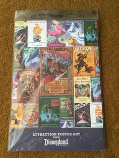 DISNEYLAND RESORT ATTRACTION POSTER ART SET 12 PRINTS HAUNTED MANSION PIRATES