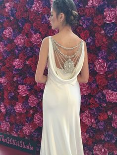 Fab back on this Suzanne Neville gown