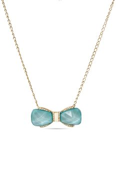 Turq Bow Necklace Rs. 800/- http://www.juvalia.in/collection/00-s-the-girl-next-door/turq-bow-necklace.html