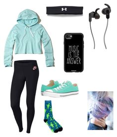 """""""Ahana practice"""" by chara-sommerfeld on Polyvore featuring NIKE, Hollister Co., Converse, JBL, RIPNDIP, Casetify and Under Armour"""