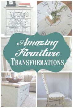 Some of the best DIY furniture makeovers around. Chalkpaint, stenciling, Milk Paint, and some of my favorite project tutorials.
