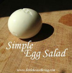 Making some yummy egg salad on this lazy Sunday!