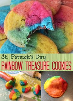 I had a little creationary fun yesterday and created some yummy cookies to celebrate the rainbow theme of St. Patrick's Day. I'm calling these yummy cookies Rainbow Treasure Cookies! My initial thought was to call them Pot of Gold Rainbow Cookies, but the rolo caramel didn't preserve it's 'goldness' enough for me to keep that idea. …