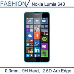 0.3mm Premium Tempered Glass for Nokia Lumia 640 5'' 9H Hard 2.5D Arc Edge Transparent Screen Protector with Clean Tools