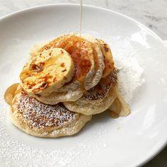 Ricotta hotcakes with honeycomb butter, Bills Australia.