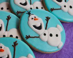 Frozen Olaf Inspired Cookies - 1 dozen