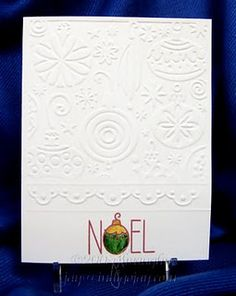 love the border added to the partial embossing