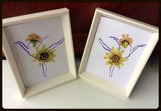 Watercolour paintings framed watercolour by PetalcraftArt on Etsy