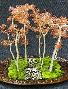 wire tree, art, sculpture, bonsai, tree images, wire tree art, fine wire sculpture, bonsai wire,