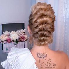 Hairdo For Long Hair, Bun Hairstyles For Long Hair, Elegant Hairstyles, Pretty Hairstyles, Braided Hairstyles, Long Hair Mohawk, Braided Upstyles, Braided Updo, Bridal Hair Buns