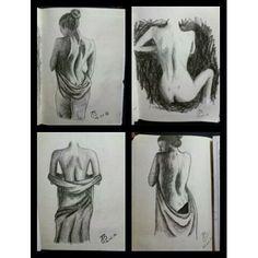 Break-art @ work ✏ #art #artlovers #artatwork #back #blackandwhite #drawing #draw #artist #instaart #instadraw #woman #womansback #julietteblack
