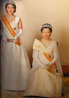 Empress Michiko of Japan and her daughter-in-law, Crown Princess Masako at the New Year's gala, January 2012