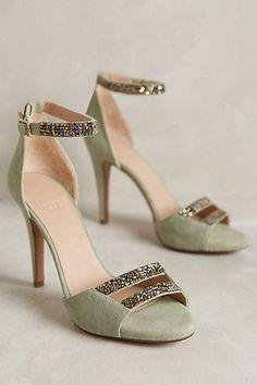 Hoss Intropia Jewel-Strap Heels #anthropologie