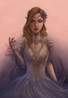 """dianulala: """" Feyre is finished! It took so long… I thought I wasn't ever going to make it haha Also I just opened print shops! Both on Redbubble and Society6, I'll use both for a bit and see which one I like..."""