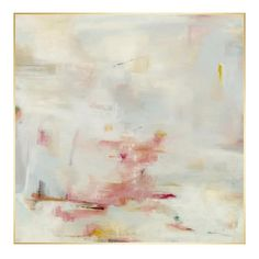blush emergence giclee - Blush Emergence Giclee with a brush gel finish in a gold leaf gallery float frame.   Artist: Samuel Kane   Made in the USA