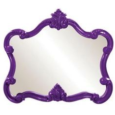 28 in. x 32 in. Glossy Purple Whimsical Framed Mirror 56033 at The Home Depot - Mobile