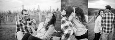 another tip for your engagement photos is. HAVE FUN! love these black and white photos during this vineyard engagement session by Alicia Ann Photographers.