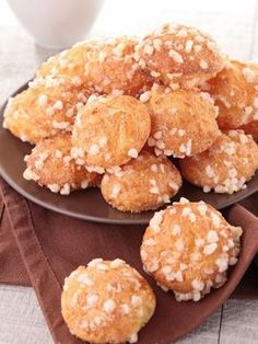 Picture of french choux pastry, chouquette stock photo, images and stock photography. Köstliche Desserts, Delicious Desserts, Dessert Recipes, Tart Recipes, Cooking Recipes, Choux Pastry, French Pastries, Cookies, Food Inspiration