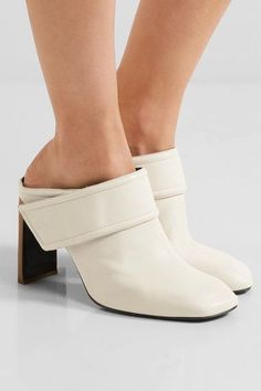 rag & bone - Elliot Leather Mules - Ivory - IT37