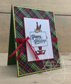 Elf Holidays | Stampin\' Up! | Festive Phrases #literallymyjoy #elf #happyholidays #plaid #christmas #holiday #ChristmasAroundTheWorldDSP #2017HolidayCatalog