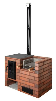Grilli-kesäkeittiö Matti 1035x580x780 mm tiili Backyard Kitchen, Summer Kitchen, Outdoor Kitchen Design, Brick Bbq, Four A Pizza, Cooking Stove, Rocket Stoves, Backyard Projects, Pergola Patio