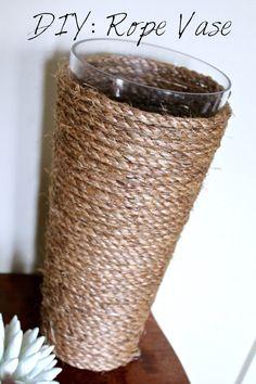 rope vase, diy, vase, rope