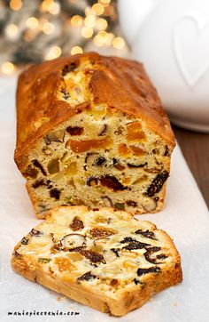 Easy : The most delicious fruit cake I have, and I& tried many of them. Sweet Recipes, Cake Recipes, Dessert Recipes, Xmas Food, Christmas Baking, Polish Desserts, Delicious Fruit, Savoury Cake, Sweet Bread