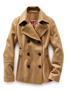 every woman needs a peacoat-classic and faux belt at waist adds definition-fantastic!