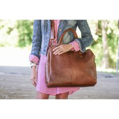 Brown Oemi Baby Leather Diaper Bag