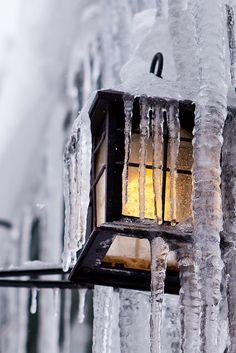 Icy Street Lamp