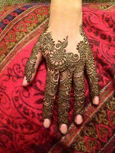 #mehendi #back #hand #arabic