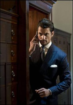 David Gandy for Henry Poole & Co. Location: Royal Automobile Club, London. Photographed by Rich Hardcastle. Hair by Larry King. August, 2014