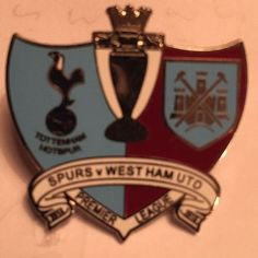 West Ham Utd Vs Tottenham Spurs Hotspurs Badge Crest Pin