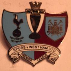 West Ham Utd Vs Tottenham Spurs Hotspurs Badge Crest Pin