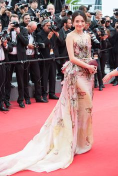 Shu Qi in Elie Saab. See all the looks from the Cannes Film Festival.