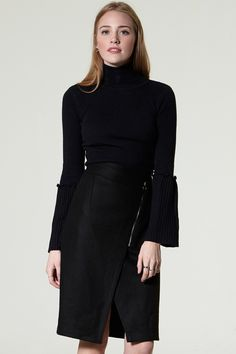 Heon Zip Pencil Skirt  Discover the latest fashion trends online at storets.com #skrit #pencilskirt #storets