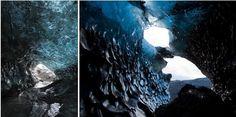 Estas cuevas de hielo se encuentran dentro de un glaciar activo, por lo que están en proceso de constante cambio