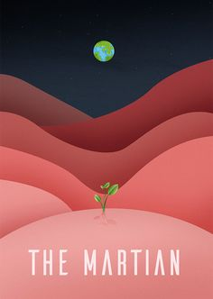 The Martian (2015) ~ Minimal Movie Poster by berni27 ~ Oscars 2016 Nominees #amusementphile