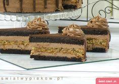 Obłędnie czekoladowy tort z orzechami - Swiatciast.pl Polish Desserts, Cookies, Baking, Cake, Cookie Monster, Food, Garden, Crack Crackers, Garten